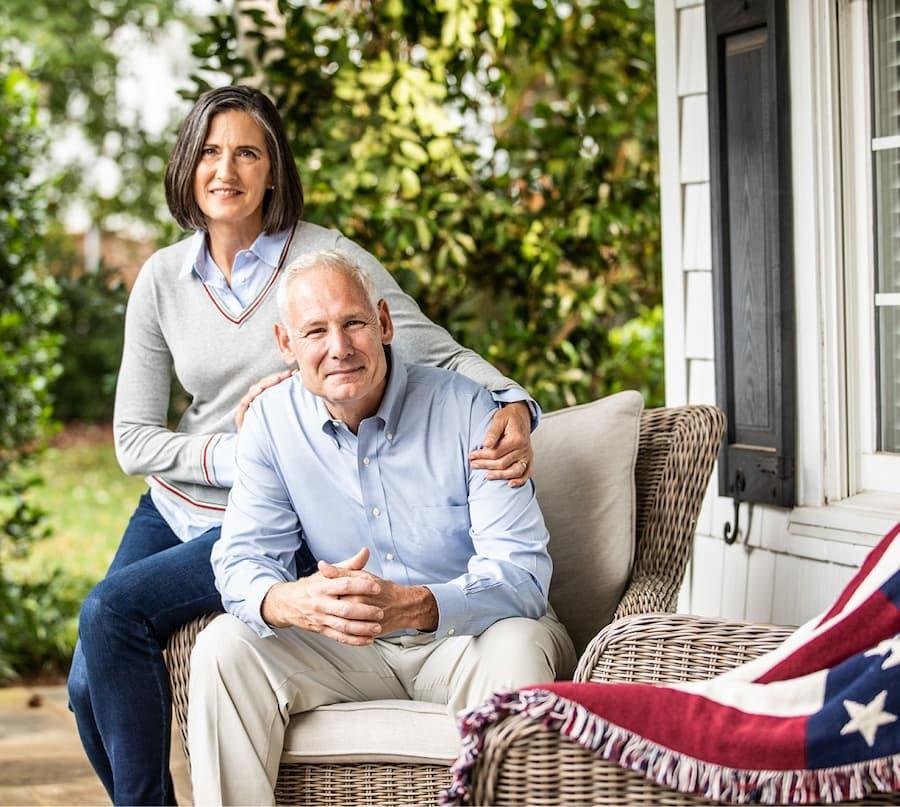 Veteran Couple on Porch